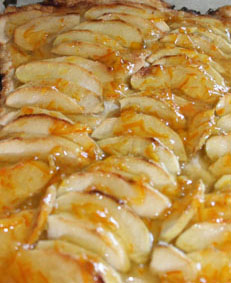 French Apple Tart with orange topping