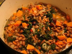 beans olive kale stew