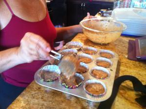 Filling Muffin Pans