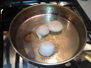 Photo 7 - Searing the Scallops