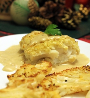 Cauliflower Crusted Cod with a Raspberry Brie Cheese Sauce copy - Featured Size