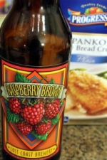 Raspberry Brown Beer and Panko