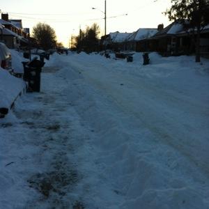 photo 1 snowy road