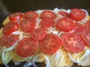 tomato and seasoning